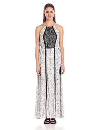 Thml embroidered halter maxi dress