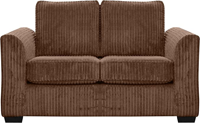 FurnitureXtra Oxford 2 Seat Fabric Sofa Camel: Amazon.co.uk