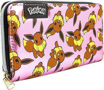Cartera de Pokemon Eevee Brillante Rosado: Amazon.es: Equipaje