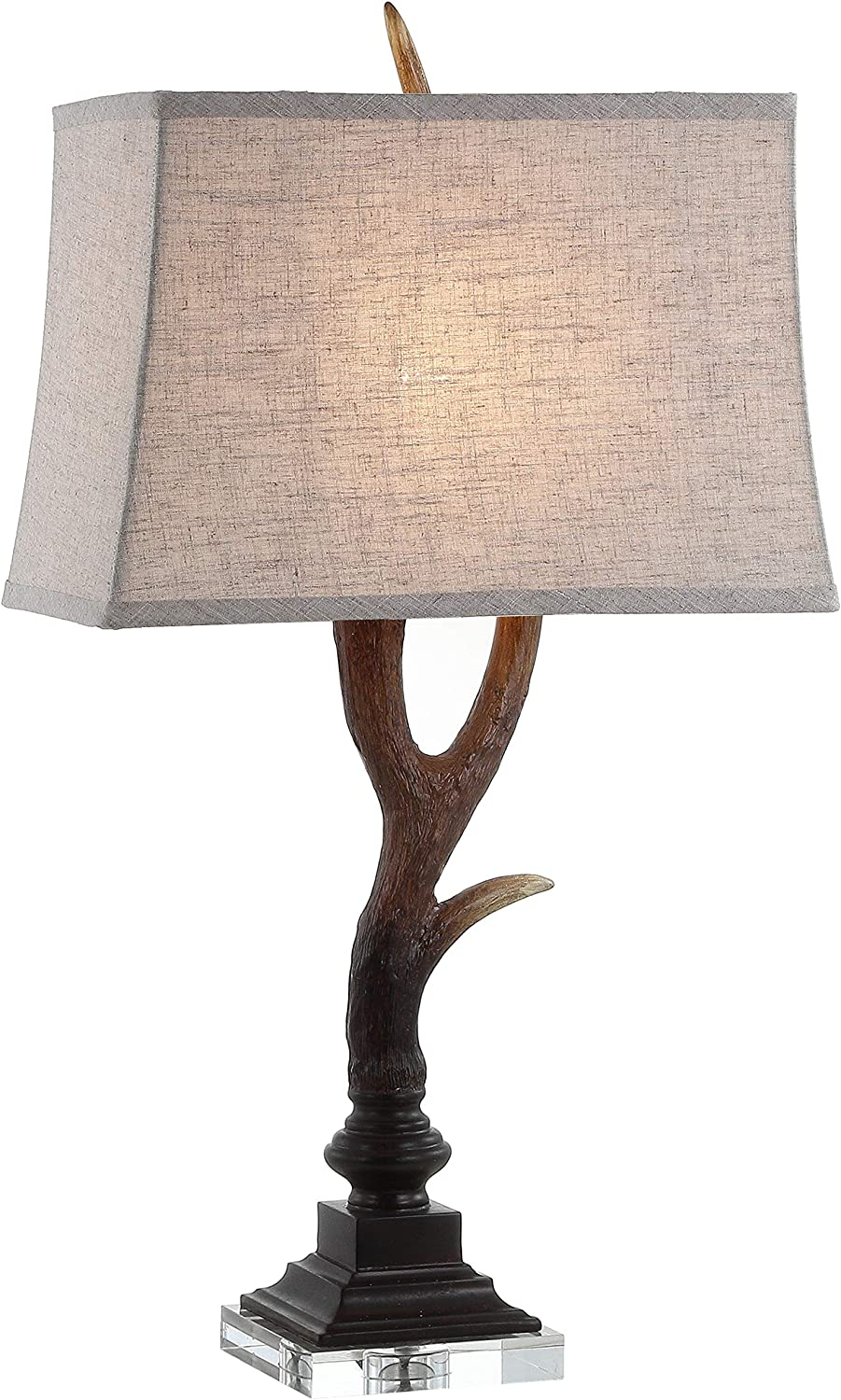 """JONATHAN Y JYL6306A Antler 29.5"""" Rustic Resin/Crystal LED Lamp Traditional for Bedroom, Living Room, Office, College Dorm, Coffee Table, Bookcase, Brown"""
