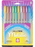Sakura 57370 10-Piece Gelly Roll Blister Card Assorted Colors Metallic Gel Ink Pen Set