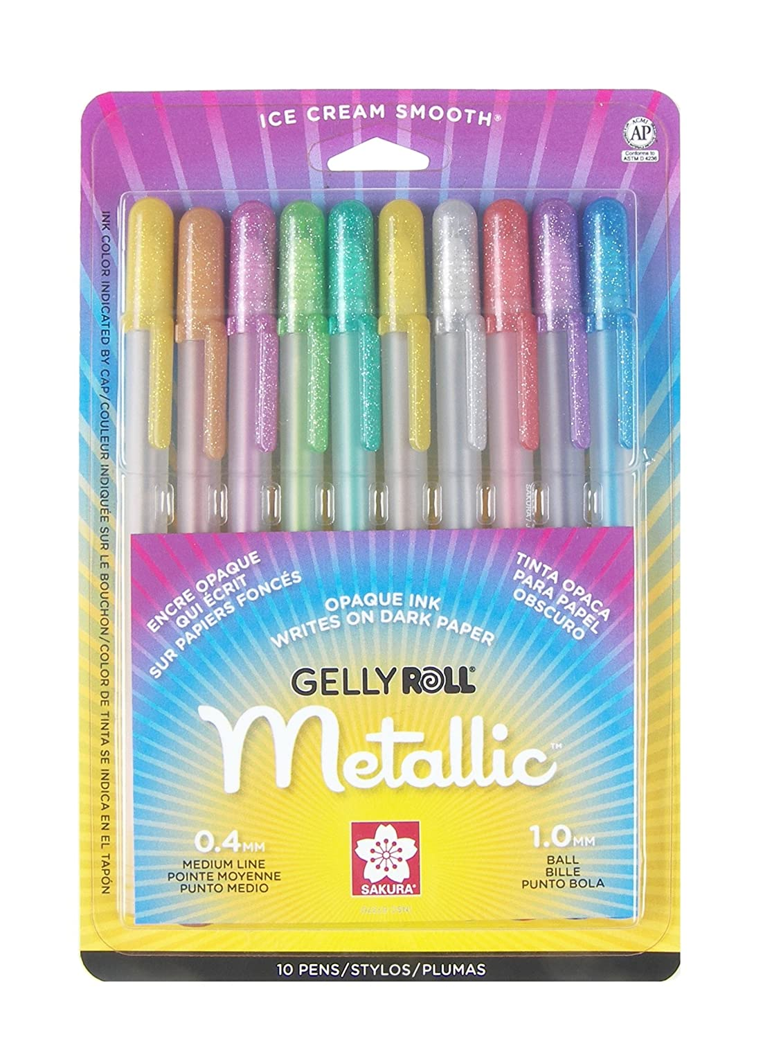 These are our premier metallic gel pens, with pitch perfect color and comes  in a
