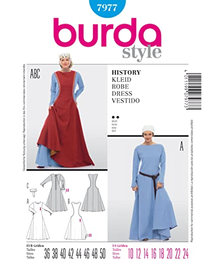 Amazon.com: Burda Sewing pattern 7977 Burda Style, History Dress ...