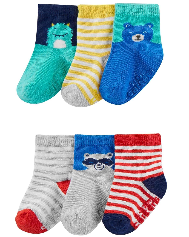 Carters Baby Boys Newborn Sneaker Socks Pack of 6 Carter/'s Baby Hosiery 51340