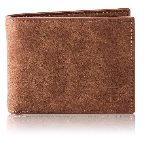 Kongqiabona hombres carteras con cremallera bolsa de monedas hombres billetera pequeñas bolsas de dinero titular de