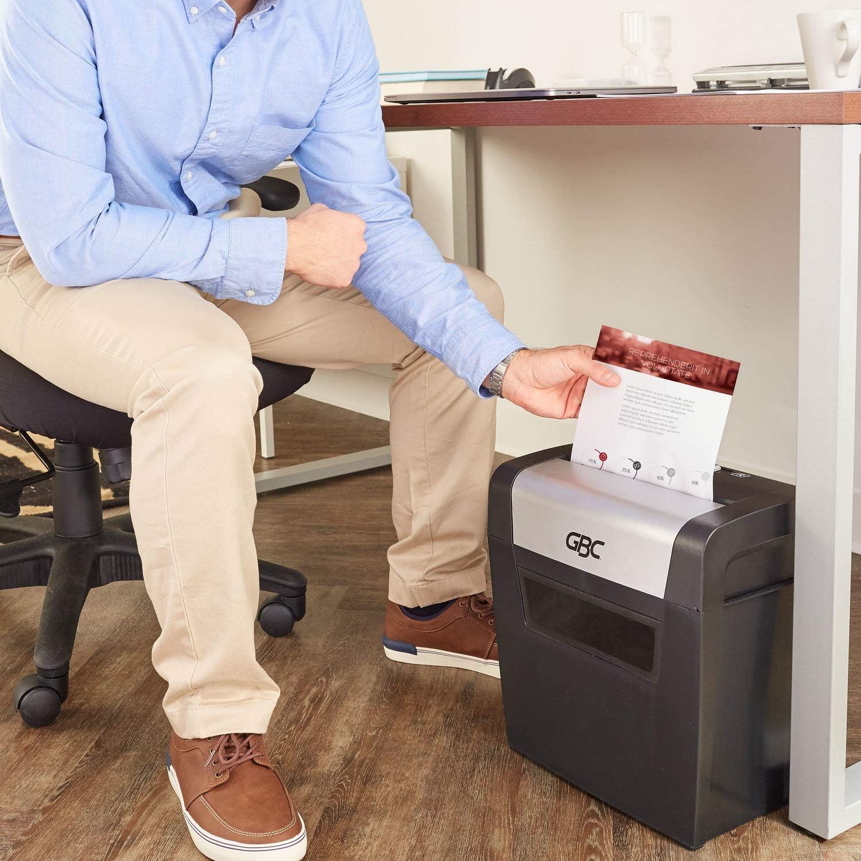 Side Facing PX08-04 ShredMaster 8 Sheet Capacity Cross-Cut GBC Paper Shredder 1757404