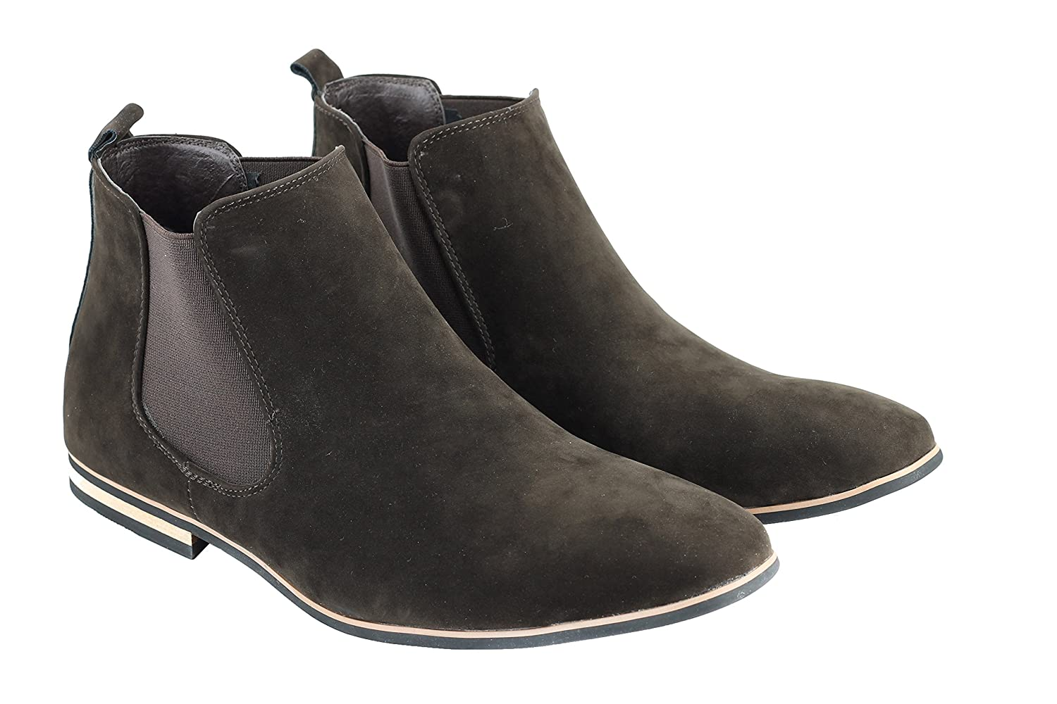 Amazon Com Xposed Mens Suede Leather Chelsea Boots Italian Style