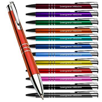 schwarz Farbe mit Gravur 100 Kugelschreiber aus Metall