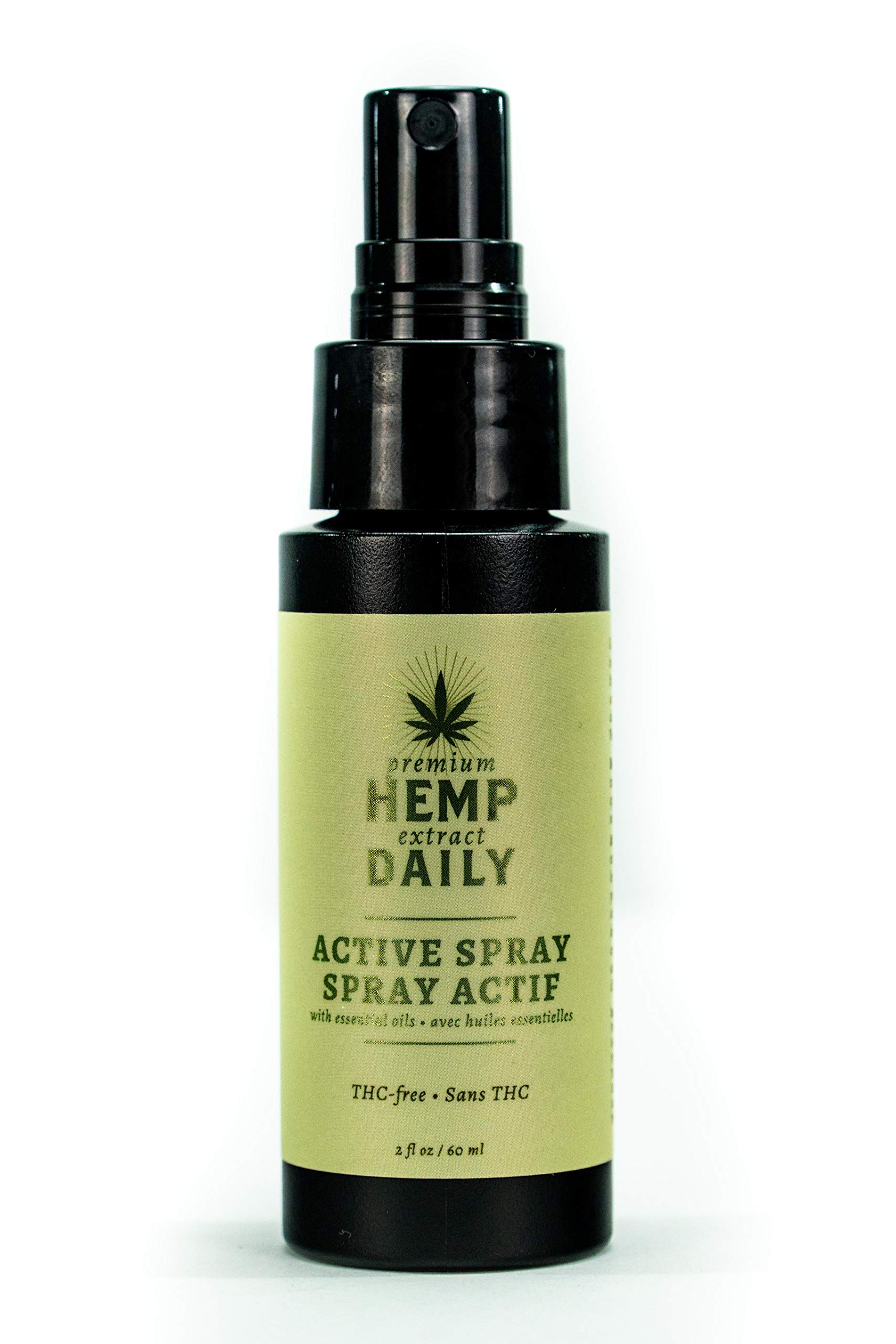 Hemp Daily Active Spray | Hemp Spray with Essential Oils | Vegan, Organic Ingredients, Calming, Use for Muscle Pain and Anxiety Relief | 2 Fluid Ounces by Hemp Daily