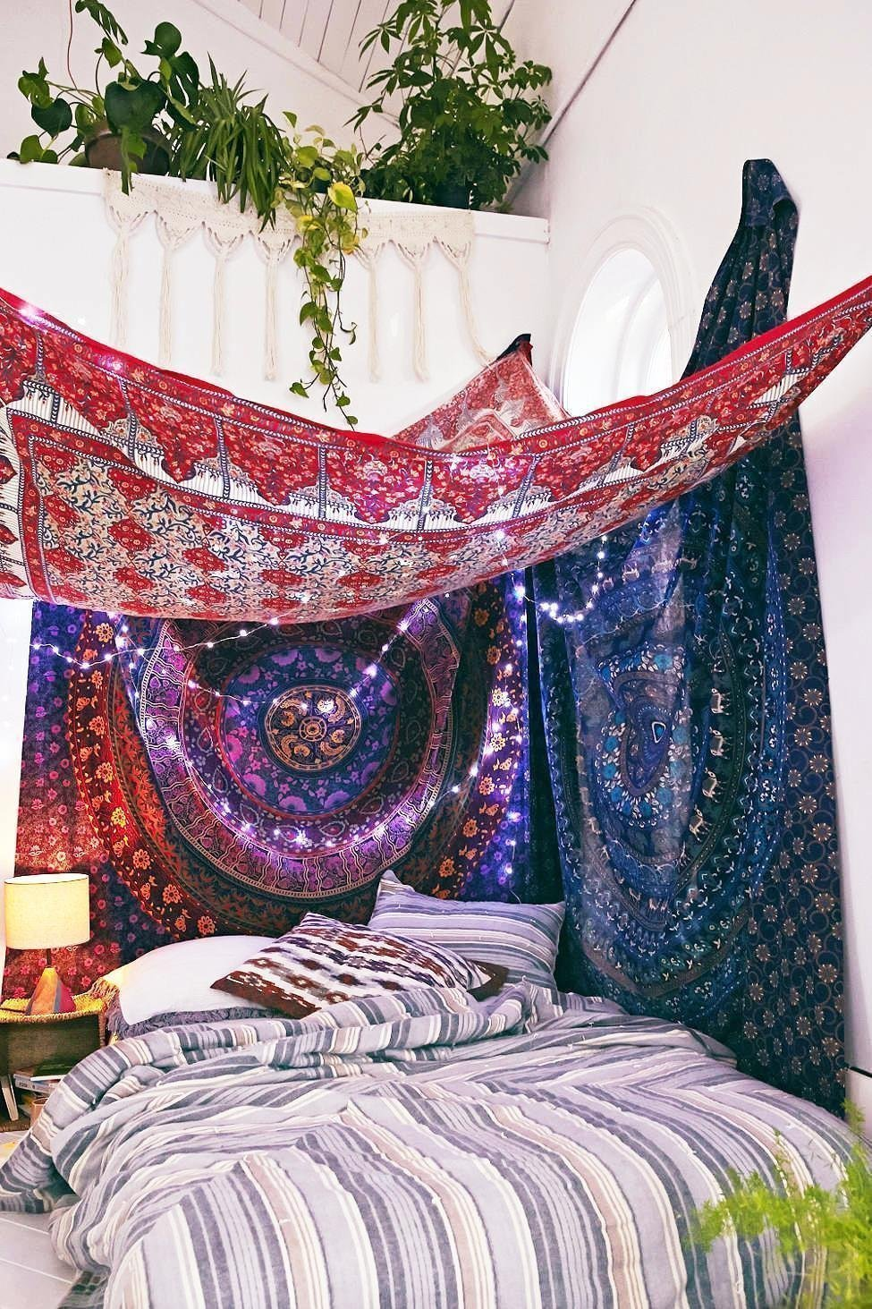 Amazing Amazon.com: Mandala Bohemian Wall Hanging Hippie Indian HeadBoard Hippie Tapestry  Bed Sheet ,Bed Throw , Cotton Bedding , Bed Cover: Handmade