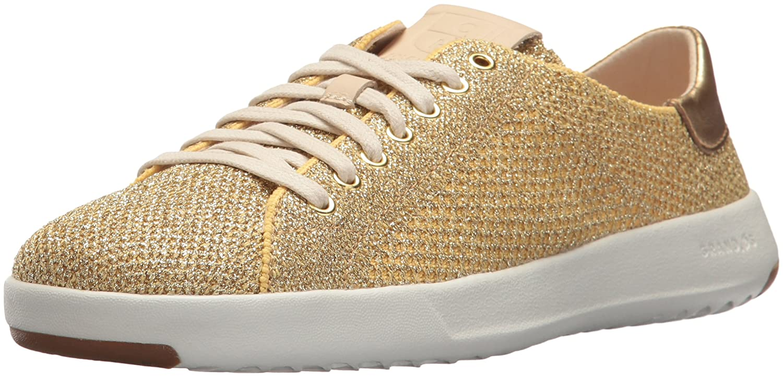 Cole Haan Women's Grandpro Tennis Stitchlite Sneaker B073RTVKBB 7 B(M) US|Metallic/Gold