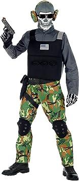 WIDMANN 00127 - Disfraz infantil de soldado esqueleto, para niño ...