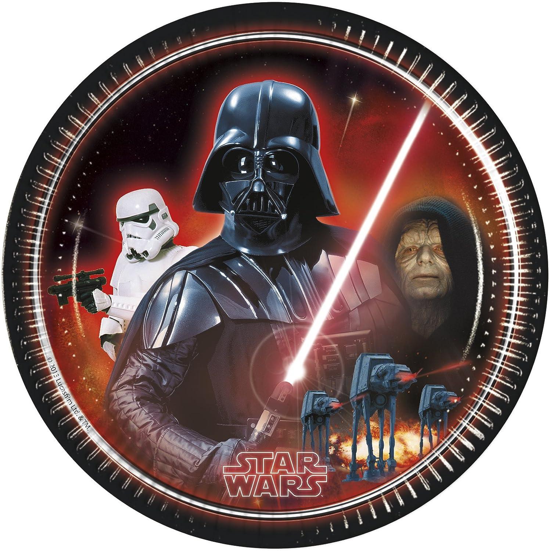 Unqiue Party 23 cm Héroes y Villanos Placas Star Wars Villanos Fiesta (paquete de 8)