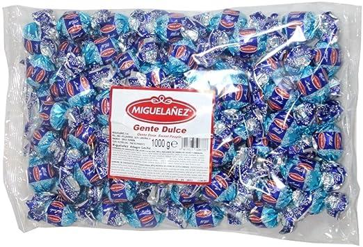 Bombones Miguelañez Chocolate Leche. Bolsa de 1 Kg.: Amazon ...