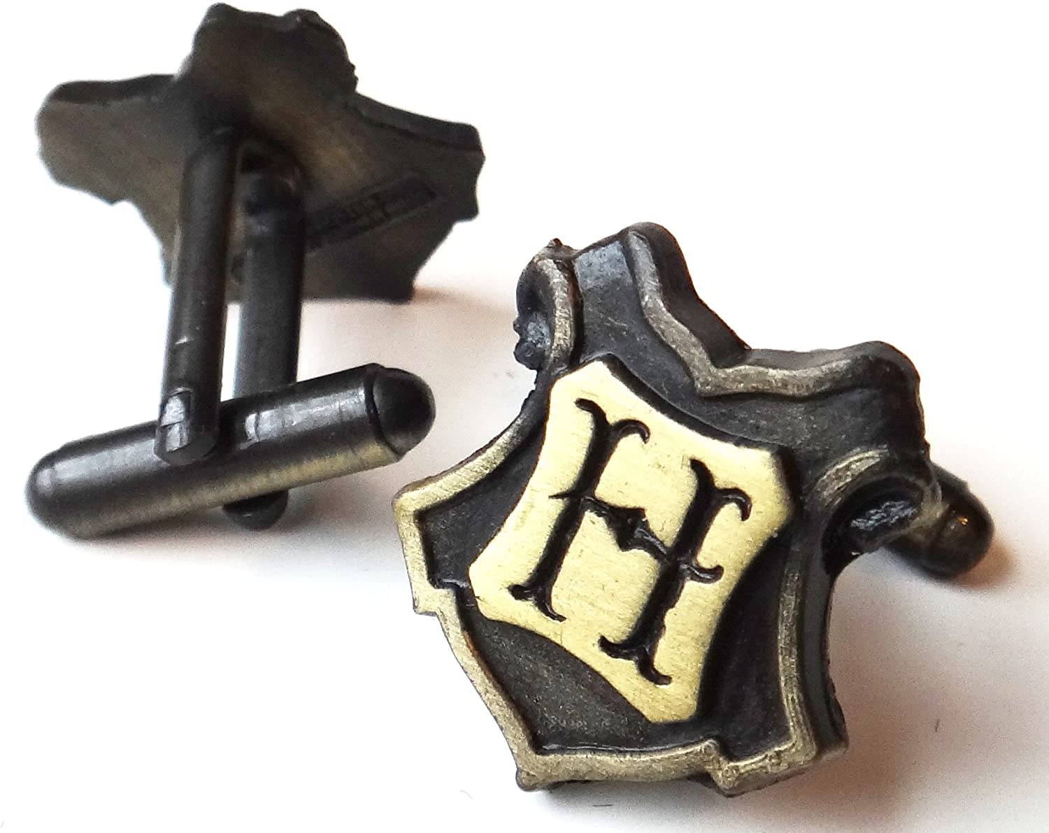 HARRY POTTER Bronze Hogwarts Cuff Links by Arthur Price of England