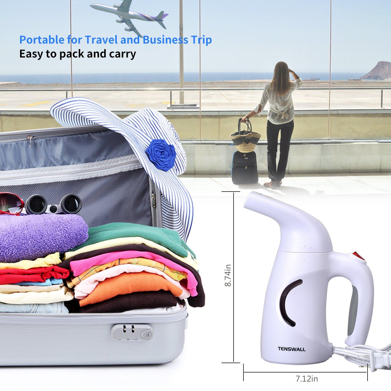 B/ügeleisen 160ml Kleidungsd/ämpfer Reiseb/ügeleisen Tenswall tragbarer Dampfgl/ätter f/ür zu Hause und auf Reisen Faltenentfernung automatische Abschaltung