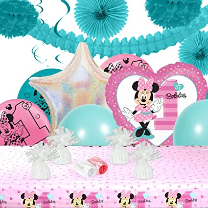 Amazon Com Disney Minnie Mouse 1st Birthday Party Decorations