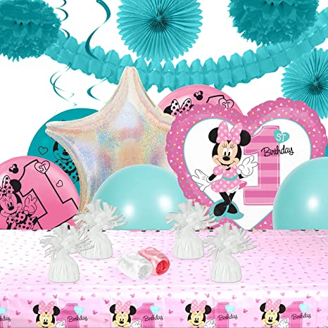 Disney Minnie Mouse 1st Birthday Party Decorations