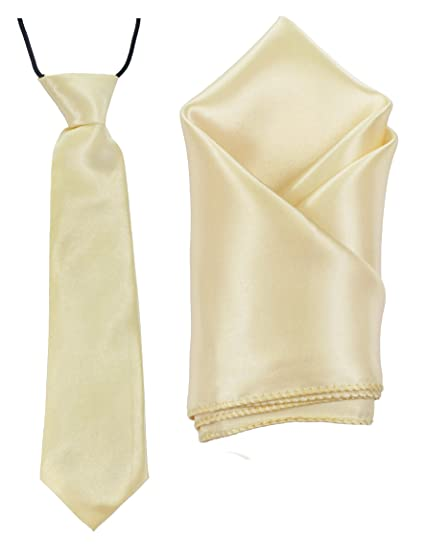 Handmade Plain Satin Boys Tie And Handkerchief Wedding Tie Kids Tie 8-11 Years Men's Accessories Clothing, Shoes & Accessories