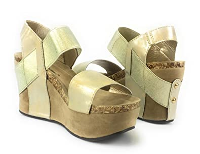 7ded94885641a Image Unavailable. Image not available for. Color: Pierre Dumas - Women's  Hester-1 Wedge Sandals ...