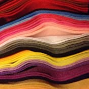 Jumbo Pack of Bombay Collections® Felt 60 Sheets A4 in 15 Assorted Colours