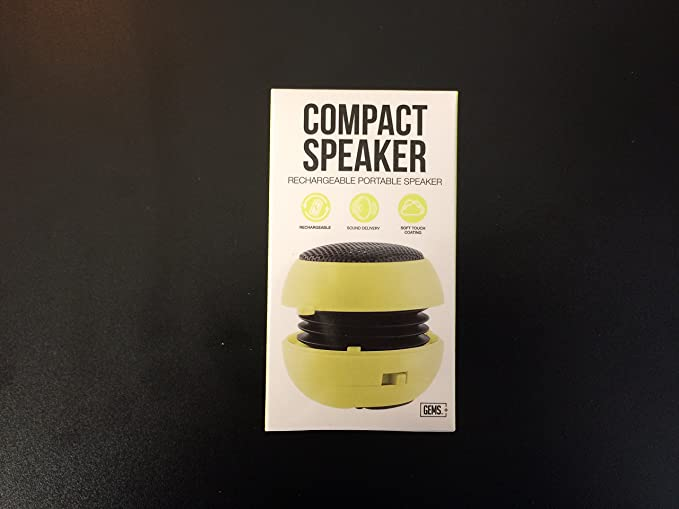 Review GEMS Compact Speaker Rechargeable