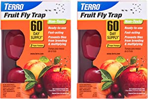 Terro T2503SR Fruit Fly Trap - 4 traps