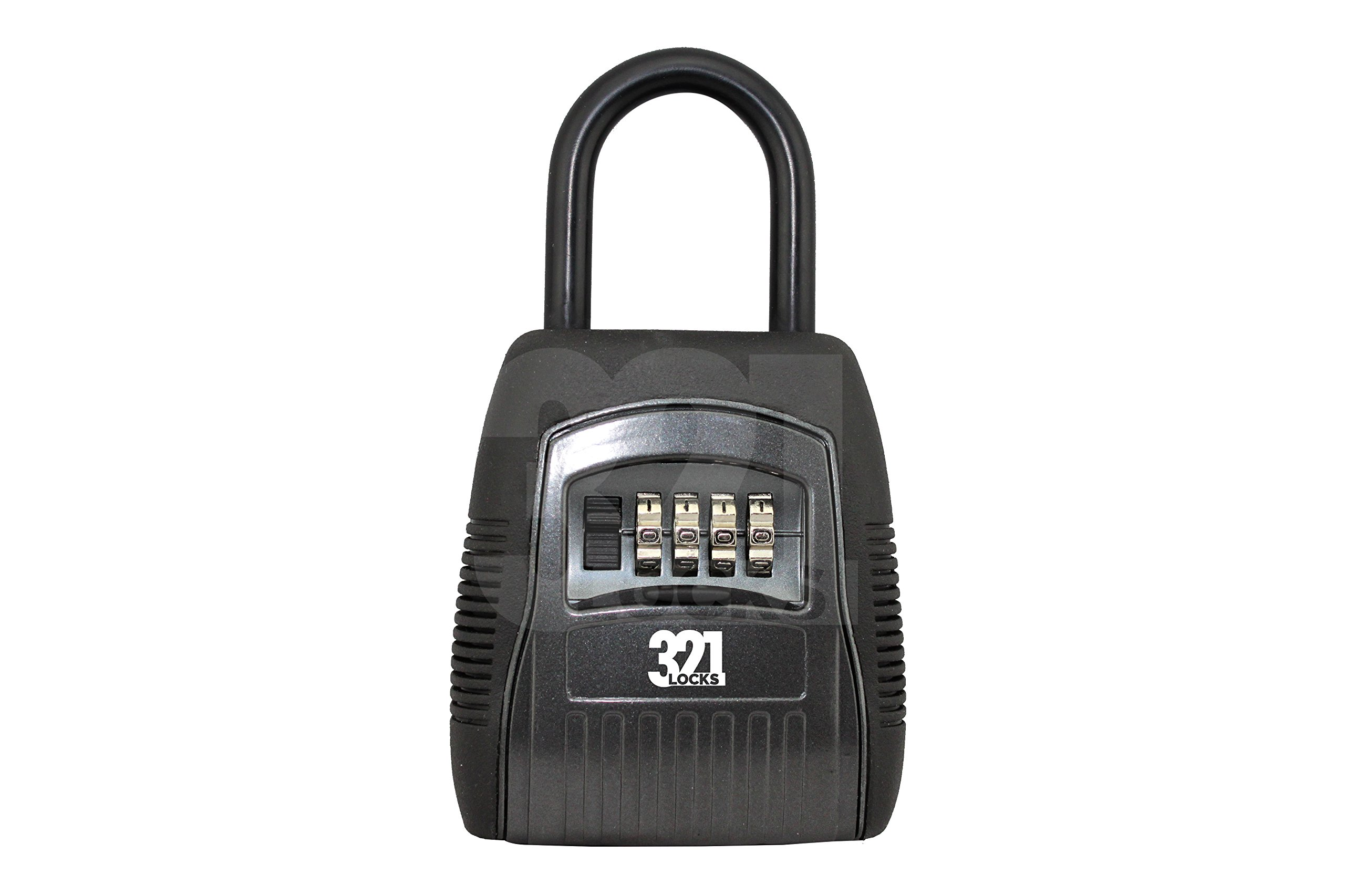 REALTOR KEY LOCK BOX Safe vault -Combination 4 Pin Lock - Knob Mounted for Maximum Security - Master Heavy Duty Slimline Keys Storage System