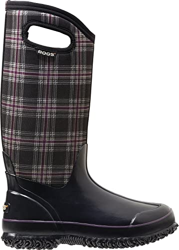 Women's Classic Winter Plaid Tall Snow Boot