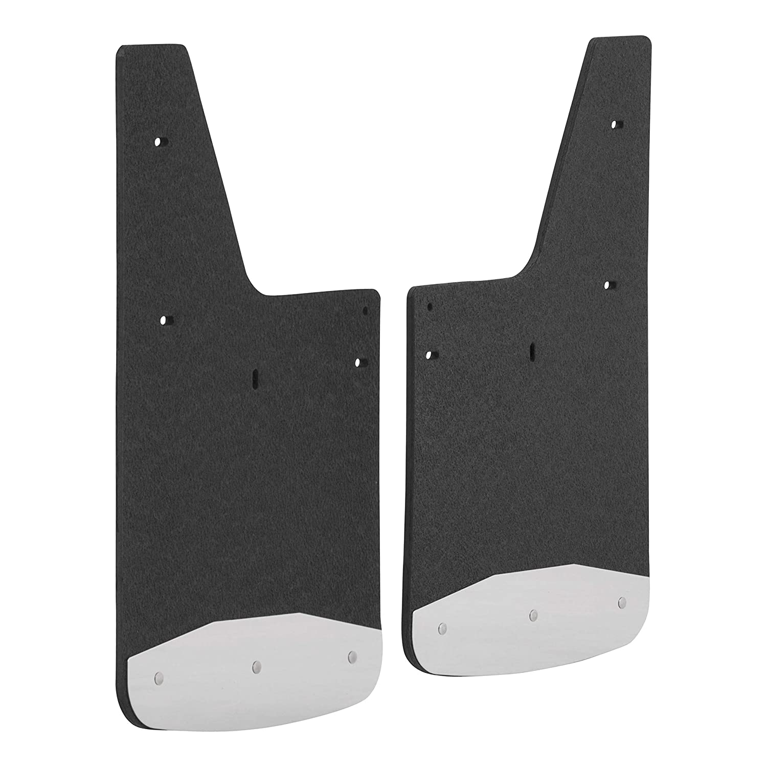 LUVERNE 251540 Front and Rear 12 x 20-Inch Textured Rubber Mud Guards Black 12 x 20 for for Select Chevrolet Colorado ZR2