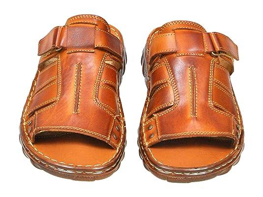ec7403d7aba5 Lukpol Mens Natural Buffalo Leather Comfortable Orthopedic Sandals Model-875   Amazon.co.uk  Shoes   Bags