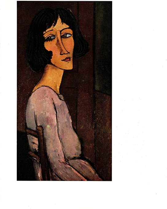 "1970 Vintage MODIGLIANI /""SELF PORTRAIT/"" COLOR offset Lithograph"