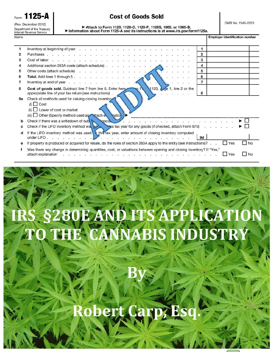 Irs 280e And Its Application To The Cannabis Industry Robert Carp