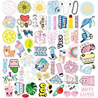 WOOOW Vsco Stickers for Water Bottles 100pcs Cute Waterproof Laptop Stickers for Girls Teens Suitable for Hydro Flask…