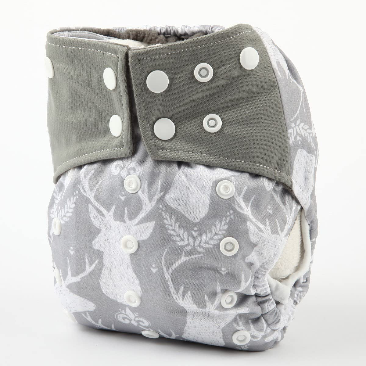 Baby Pocket Cloth Diaper Nappy Bamboo Charcoal Leg Gussets Washable Girls Hedgehog