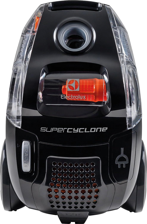 Aspiradora Electrolux ESC63EB 750 W 750 W, 27,4 kWh, Aspiradora de tambor, Sin bolsa, Negro, Telesc/ópico