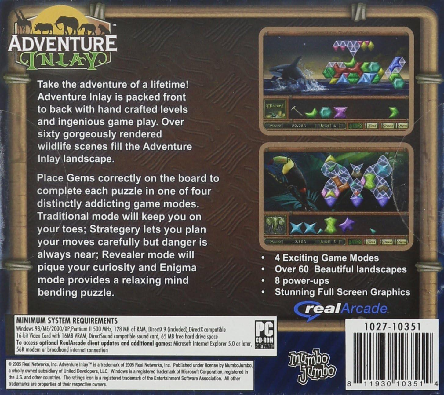 Amazon com: Real Arcade Adventure Inlay - PC: Video Games