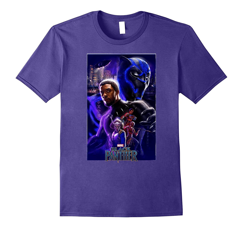 Marvel Black Panther Movie Wakanda Purple Poster T-Shirt ...