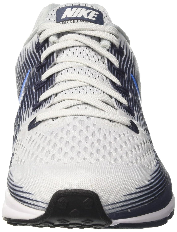 new concept 0e258 15fce Nike Men s s Air Zoom Pegasus 34 Running Shoes White Blue  Amazon.co.uk   Shoes   Bags