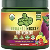 Organic Muscle Pre-Workout Powder - Certified USDA Organic, Keto & Vegan with All Natural Superfood Ingredients for Energy, F