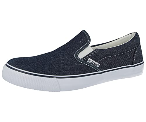 df5c35e3183d Mens 618055 Slip On Canvas Skate Trainers Low Top Plimsoll Casual Sneakers  Trainers Shoes Size 6