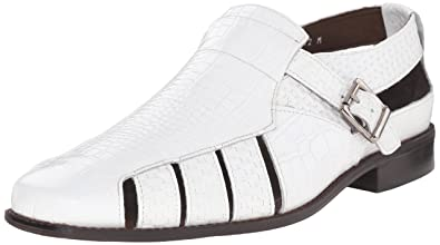Stacy Adams Men's Sacchi Fisherman Sandal, White, ...