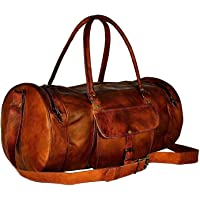 """Jaald 22"""" Leather Duffle Bag Travel Carry-on Luggage Overnight Gym Weekender Bag"""