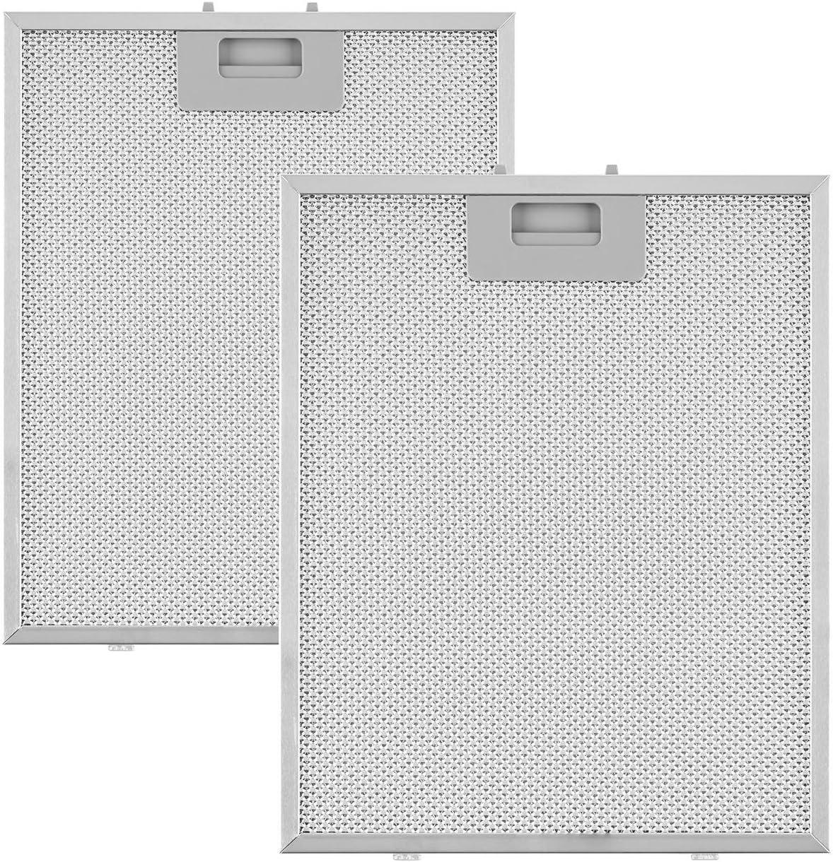 Klarstein Sabia filtro anti grasa aluminio reemplazo accesorio campana extractora 23,8 x 31,8 cm