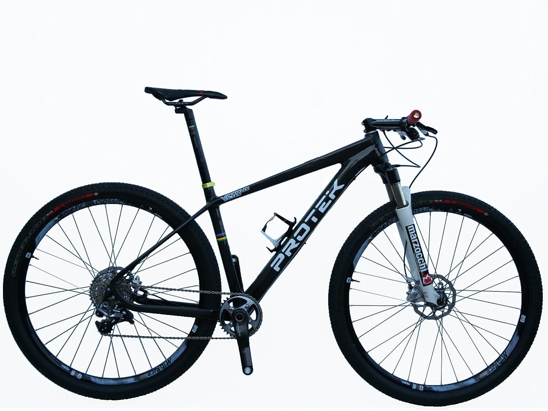 Protek - Bicicleta de montaña de 29 pulgadas, con marco de carbono ...