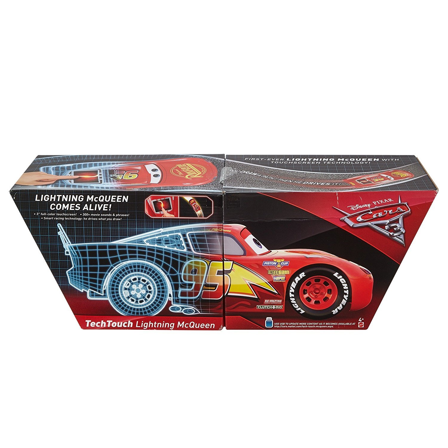 amazoncom disney cars pixar cars 3 tech touch lightning mcqueen toys games - Mcqueen Flash Mcqueen