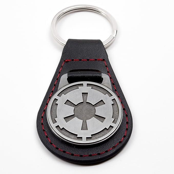 Amazon.com: Qmx star wars Imperial Emblema Llavero: Toys & Games