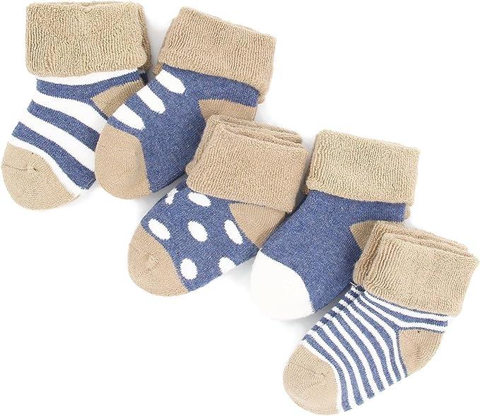 Fall Winter Combed Cotton Baby Socks Infant Socks Cute Cartoon Thick Warm Cotton Socks Toddler Crew Socks Boys Girls