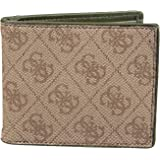 Guess Men's Leather Bifold Wallet, Brown/Brown, One Size