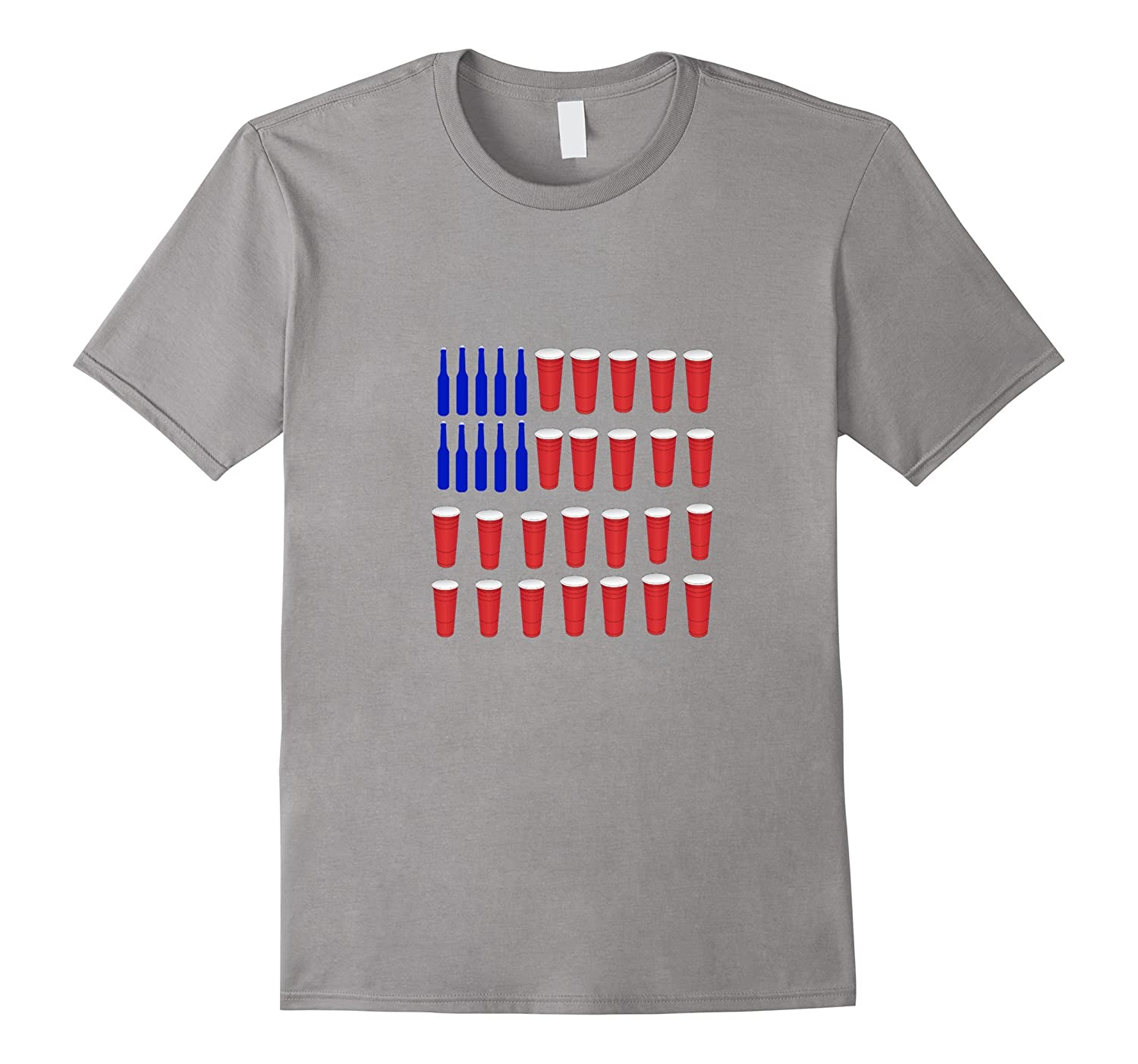 4th Of July Beer Flag T-Shirt-TH
